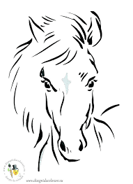 Coloring Pages Horse Head Coloring Page Of Unicorn Realistic Pages