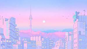 Pastel Retro Anime Aesthetic Desktop ...