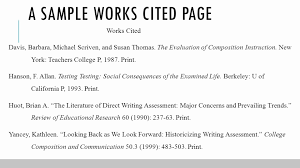 010 Example Work Cited Page Mla New How To Write Works In Format Of