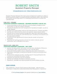 Assistant Property Manager Resume Samples | Qwikresume