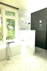 half wall shower enclosure pony glass best ideas 4 knee