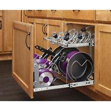 kitchen storage cabinets for pots and pans. 2 tier pull out base cabinet cookware organizer pots pans lids kitchen storage cabinets for and w