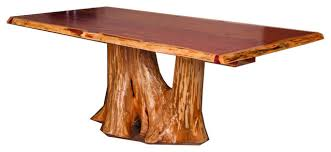 rustic tree furniture. rustic red cedar log tree stump dining table rusticdiningtables furniture u