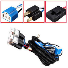 h4 headlight halogen ceramic relay wiring harness headlamp bulb image is loading h4 headlight halogen ceramic relay wiring harness headlamp