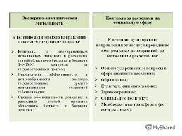 Презентация на тему Статус контрольно счетной палаты В  7 Экспертно аналитическая деятельность