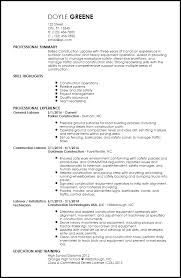 Free Contemporary Construction Resume Templates Resume Now