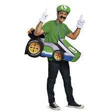 Disguise Luigi Mario Kart Go Kart Racer Funny Adult Unisex Costume