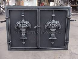 perpetua iron fire screens custom made to fit your fireplace cast iron fireplace doors