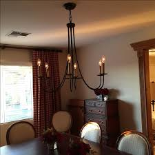 ethan allen six light iron trumpet chandelier chairish intended for lighting decorations 27