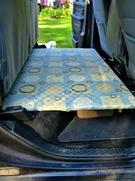 Back Seat Bed Build A Platform For The Back Seat Of A Truck Suv Van With Flip Up