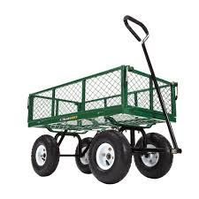 gorilla carts gor400 com steel utility garden cart with removable sides 400 pound capacity