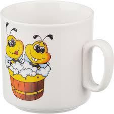 <b>Кружка детская</b> Добруш Пчелы фарфоровая белая с <b>рисунком</b> ...
