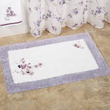 breathtaking white and purple bath mats square models with fl