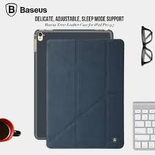 baseus brand three section y type support standing tablet pu leather case for apple ipad pro