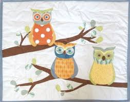 41 best Quilts- Owls images on Pinterest | Beautiful, Craft ideas ... & Forest Friends baby or toddler quilt, Branches and Owls, with applique and  patchwork, custom order Adamdwight.com