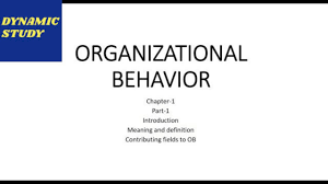 What Is Organizational Behavior Organization Behavior Meaning And Definition Full Description In English