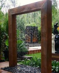 diy outdoor water wall fountain pool