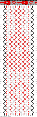 Heart Friendship Bracelet Pattern New Design