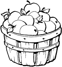 apple coloring page. Plain Page Apple Coloring Page  Basket Of Apples With O