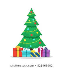 christmas trees decorated with presents. Perfect Presents Christmas Background With Decorated Tree And Gift Boxes Colorful Flat  Presents For Holiday Modern For Trees Decorated With Presents R