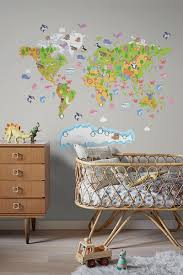 world map for childrenwall decals