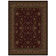 shaw living palace kashan rectangular indoor woven area rug common 5 x 8