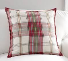 Red Plaid Pillow Covers