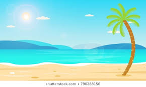 tropical beach travel holiday vacation leisure nature concept ilration beautiful seascape and sky background