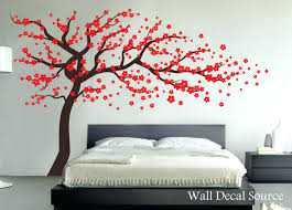 est wall decals red cherry blossom tree wall decal vinyl wall decor wall tree red cherry