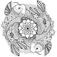 Kleurplaat Voor Volwassen Yin Yang Kleurplaat Volwassenen Vissen Yin