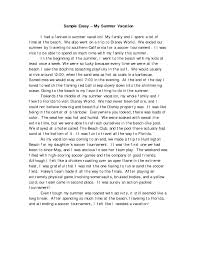 my vacations essay