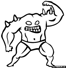 Monster Coloring Pages Monsters Online Page 1