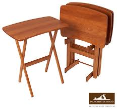 amazing furniture designs. Interior And Furniture Design: Captivating Folding End Table Of Amish Pine Wood From DutchCrafters Amazing Designs U