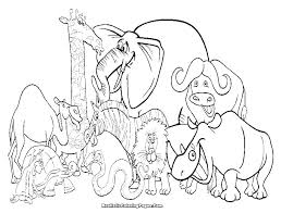 Wild Animals Coloring Pages Printable Animal For Kids Zoo Print Out