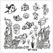 Clown fish Underwater Word font b Cartoon b font Stamping nail art kit font b Template online get cheap cartoon templates aliexpress com alibaba group on fancy 16 template