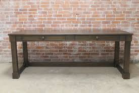 solid reclaimed wood desk
