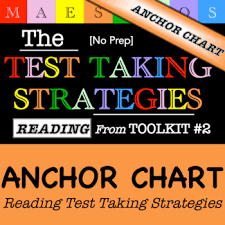 Reading Test Taking Strategies Anchor Chart From Toolkit 2