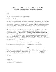 Sample Reference Letter From Academic Supervisor