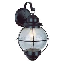 lighthouse 1 light outdoor rustic bronze coach wall lantern sconce with seeded glass