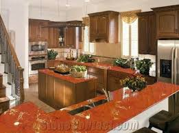 rojo alicante polished marble countertop design red marble kitchen design