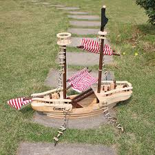 large wooden pirate ship toy for kids multicolor baby gifts