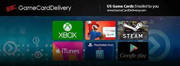 We utilize cutting edge technologies so that you can quickly and easily receive your steam, psn cards, xbox cards, & more! Game Card Delivery Home Facebook