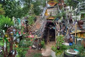 a flea market garden art or junk flea market gardening