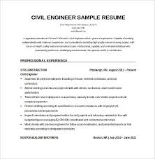 Civil Engineer Resume Template Stunning Resume Samples Doc Download