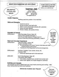 Examples Of Resumes Job Resume Samples For High School Students