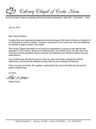updates calvary chapel association 7 19 2013 letter from pastor chuck smith