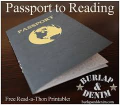 Free Passport Template For Kids Best Passport To Reading A Free ReadaThon Printable Students Record