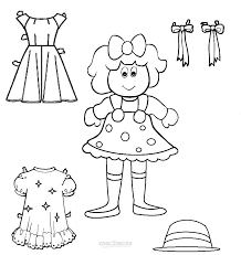 Color the paper dolls with crayons or colored pencils. Free Printable Paper Doll Templates
