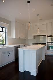 Contemporary Kitchen Lighting In Canadian Home   Crystal Bell Jars