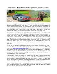 cape town airport car hire powerpoint